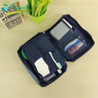 Travel Manila Cosmetic Toiletry Case Organizer (Navy Blue) - 2