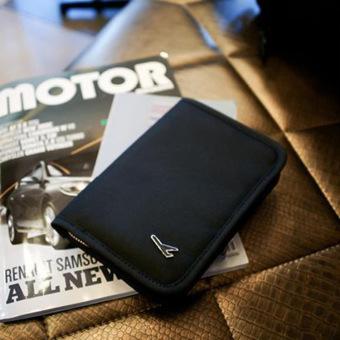 Travel Passport Holder Travel Wallet Pen Holder -Black - 2