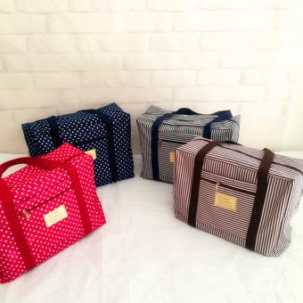 Travel weekender tote bag large capacity luggage foldable waterproof S0514a coffee - 5