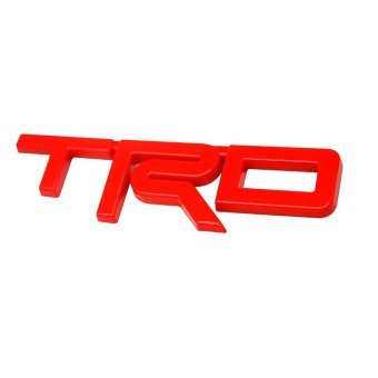 TRD Logo Emblem for Toyota Wigo Vios and Hilux Revo Fortuner (Red)