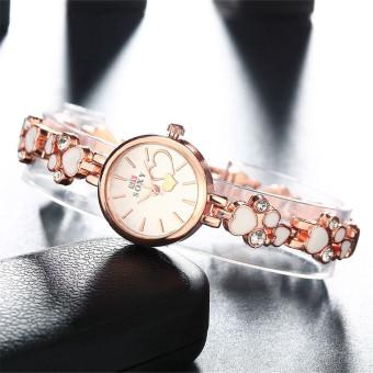 Treasure by B&D WH0025W Heart shape Chain Quartz Casual WomenLady Watch (Rose Gold) - 4