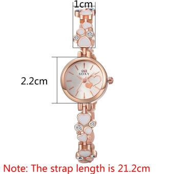 Treasure by B&D WH0025W Heart shape Chain Quartz Casual WomenLady Watch (Rose Gold) - 2