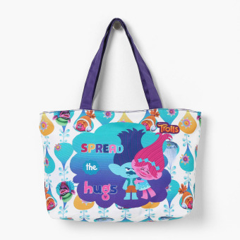 Trolls Girls Spread the Love Horizontal Tote Bag