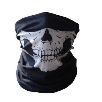Tubular Skull Ghosts Mask Bandana Motorcycle (Black)