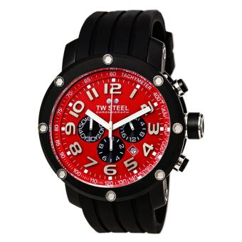 TW Steel Limited Edition Men's Black Silicon Strap Watch (TW130)
