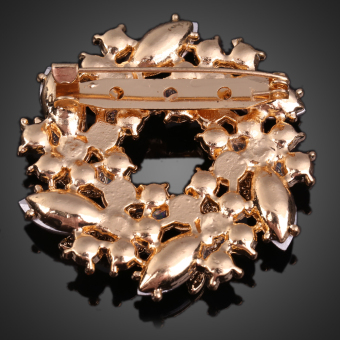 Twinkling Crystal Brooch Breastpin Ornaments Clamp Accessory (Intl) - picture 2