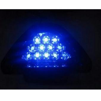 Type R Triangle 12-LED Car Tail Third 3rd Rear Brake Stop StrobeLight (BLUE) - 2