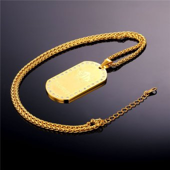 U7 Taurus Zodiac 18K Real Gold Plated Unisex Jewelry TwelveConstellation Crystal Pendant Necklace (Gold) - INTL - 4