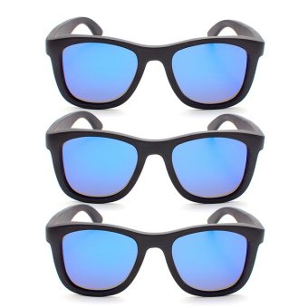 Uddo Samui Sunglasses (Black Wayfarer) Set of 3