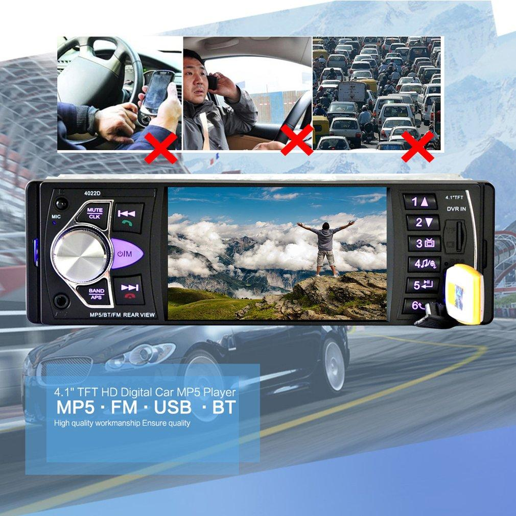 UINN 4022D 4.1inch Car DVD Radio MP5 Player Car Kit Audio FM .