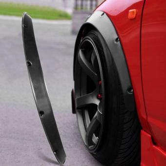 UINN 4pcs Universal Widened JDM Fender Flares Wheel Arch 2 inch ABS Car Fittings black - 2