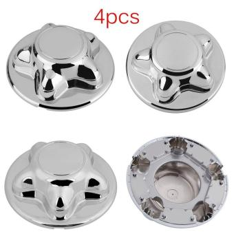 UINN 4PCS Wheel Center Hub Caps Rim Covers 5 Lug Steel And Alloy Wheels For FORD silver