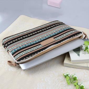 UINN Bohemian Design 12 /14 /15 Inch Canvas Laptop Bag Notebook Sleeve Case Pouch - 2