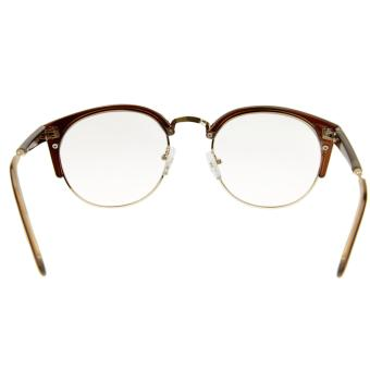 Unisex Glasses, Plain Glasses Eyeglasses Women Men Sexy Cat EyeHalf Frame Reading Glasses Spectacles Computer TV RadiationProtection Glasses Greek Clear Lens Glasses with Free Case DarkBrown - intl - 4