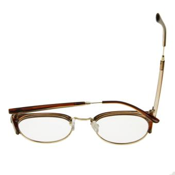 Unisex Glasses, Plain Glasses Eyeglasses Women Men Sexy Cat EyeHalf Frame Reading Glasses Spectacles Computer TV RadiationProtection Glasses Greek Clear Lens Glasses with Free Case DarkBrown - intl - 5