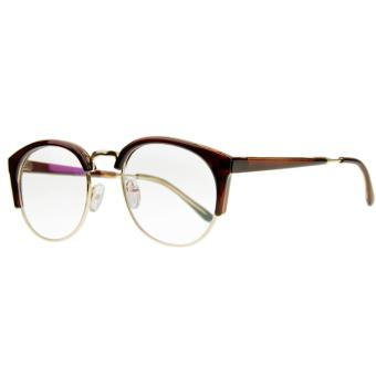 Unisex Glasses, Plain Glasses Eyeglasses Women Men Sexy Cat EyeHalf Frame Reading Glasses Spectacles Computer TV RadiationProtection Glasses Greek Clear Lens Glasses with Free Case DarkBrown - intl - 2