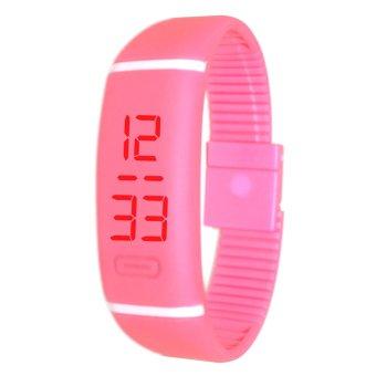 Unisex Pink Digital LED Sports Watch