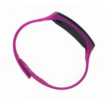 Unisex Purple Jelly Silicone Strap Digital LED Sports Wrist Watch - 2