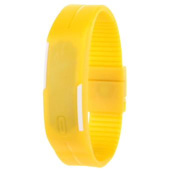 Unisex Yellow Plastic Strap LED Watch 434226 - picture 2