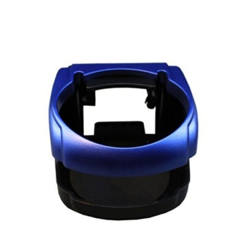 Universal Auto Car Vehicle Drink Bottle Cup Holder Blue - intl
