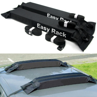 Universal Auto Soft Car Roof Rack Rooftop Luggage Carrier Load 60kg Baggage Easy Fit Removable. - 2