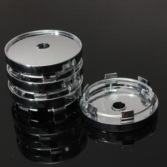 Universal Car Alloy Wheel Center Hub Cap Plastic 60mm Tyre Trims Set 4x - 3