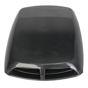 Universal Carbon Car Decorative Air Flow Intake Scoop Hood Bonnet Vent Cover New (Black)