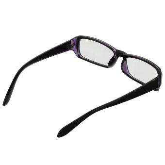 UV400 Computer Radiation Protection Anti-Blue-Light Glasses Spectacles - Black + Clear Blue - intl - 3