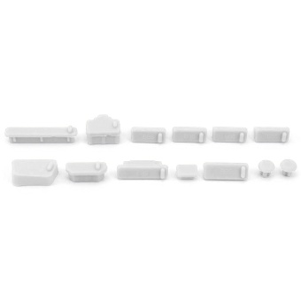 Vanker 13Pcs Silicone Anti-dust Ports Cover Stopper Set Dust PlugFor Laptop Notebook(white) - intl