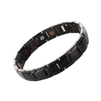 Vanker-New 1Pc Women Men Titanium Magnet Energy Health Care Bracelet Fashion Jewellery Unisex(Black) - intl