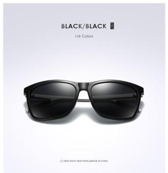 VEITHDIA 387 Fashion Alloy Frame Square Polarized Sunglasses MenDriving Glasses gun grey - intl - 3