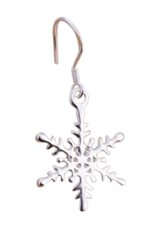 Velishy 925 Sterling Exquisite Christmas Snowflake Earrings Silver