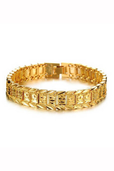 Velishy Men's Bracelet Watch Chain Plated 18K Gold Gold