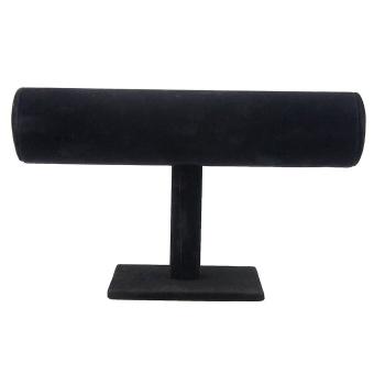 Velvet Bracelet T-Bar Jewelry Display Bangle Shelves Black
