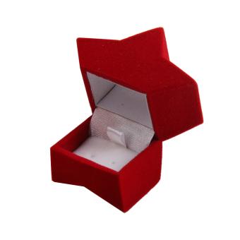 Velvet Earring Jewelry Display Storage Box Gift Case Holder (Red Pentagram) - picture 2