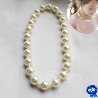 Versatile girls girl's baby necklace pearl necklace
