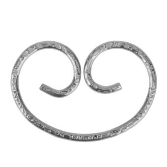 Vintage Steel Key Holder Ring Keyring Keychain Keyfob Accessories - Silver