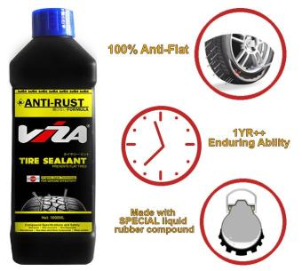 VIZA(R) Premium Tire Tyre Sealant 1L (1000ML) for Motorcycle BicycleCars Truck