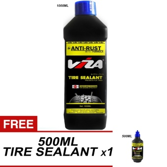 VIZA(R) Premium Tire Tyre Sealant 1L (1000ML) with 1 x 500ML