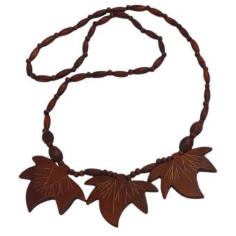 Vococal Maple Leaf Pendant Necklace (Brown)
