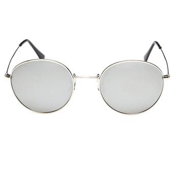 Vococal Retro Vintage Lens Sunglasses (Silver)