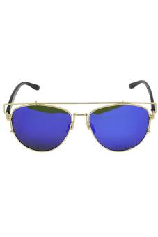 Vococal Retro Vintage Sunglasses (Blue)