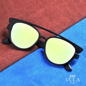 Vula 2016-10 Melina Cat Eye Aviator Sunglasses Shades (Multicolor1)