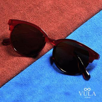 Vula 9215 Eulette Browline Sunglasses Shades (Red)