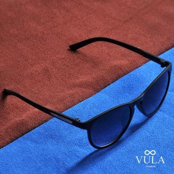 Vula Summer Unisex Casual Sunglasses Shades Eyeglasses JL1143 (Black) - 3