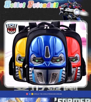 Waterproof Primary School Bag Backpacks Boys Kids for Transformers(Blue) - intl