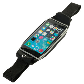 Waterproof Sports Running Waist Belt Pouch for 4.7 up to 5.5 inchesSmart Phone (Black) - 2