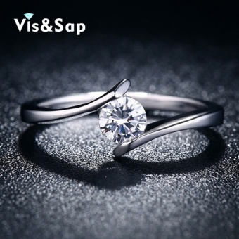 White gold plated ring engagement wedding Rings for women vintagejewelry bague luxury fashion jewelry Wholesale VSR030 - intl