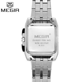 Wholesaler MEGIR MS2018G Original Luxury Men Watch Full Steel Band Date Mens Quartz Watches Business Big Dial Watch Relogio Masculino - intl - 3