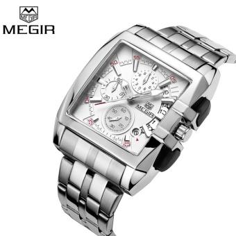 Wholesaler MEGIR MS2018G Original Luxury Men Watch Full Steel Band Date Mens Quartz Watches Business Big Dial Watch Relogio Masculino - intl - 2